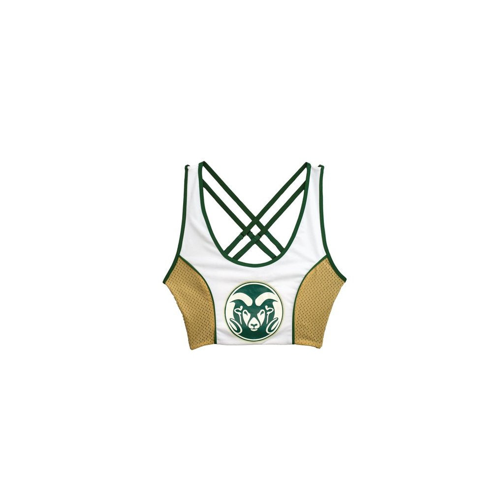 Colorado State Sporty Cropped Tank - lo + jo, LLC