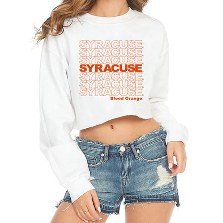 Syracuse Have A Nice Day Cropped Crewneck