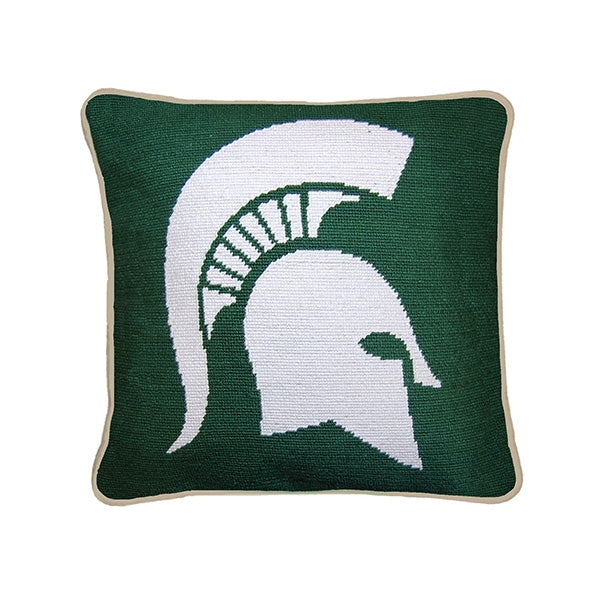 Michigan State Needlepoint Pillow