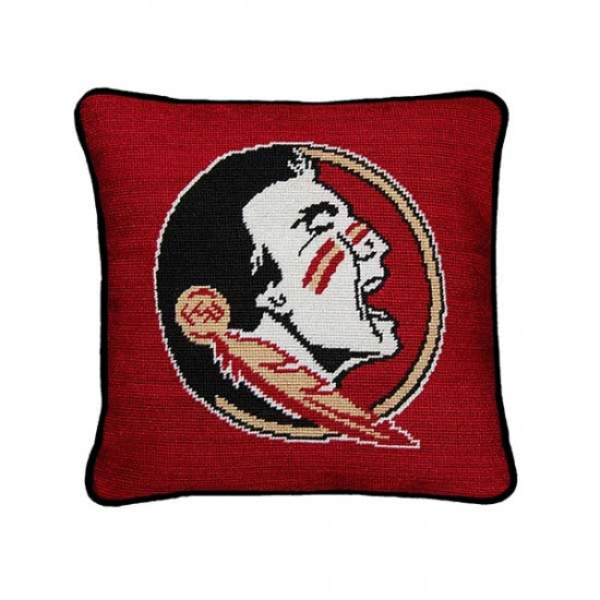 Florida State Needlepoint Pillow - lo + jo, LLC