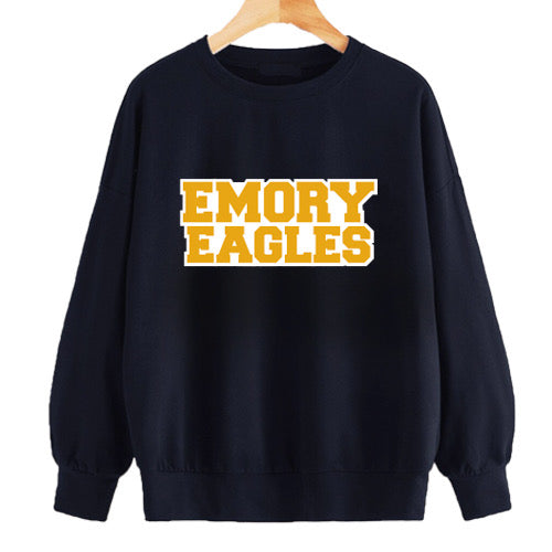 Emory Navy Cropped Crewneck
