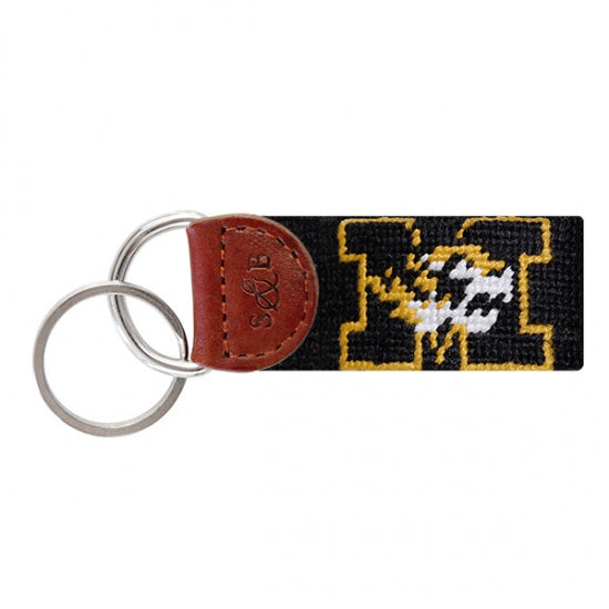 Mizzou Needlepoint Key Fob