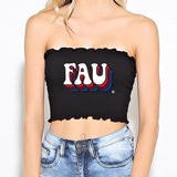 FAU Black Smocked Top