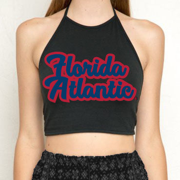 FAU Black Halter Top