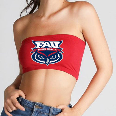 FAU Red Bandeau Top