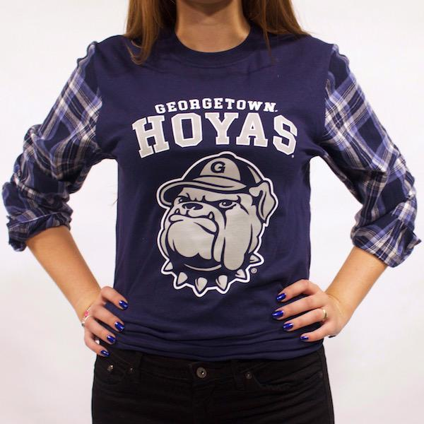 Georgetown University Flannel Tee - lo + jo, LLC