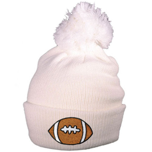 Football Beanie Hat - lo + jo, LLC