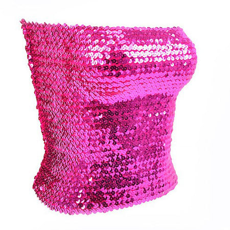 Fuchsia Sequin Tube Top - lo + jo, LLC