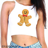 Gingerbread Man Crop Top - lo + jo, LLC