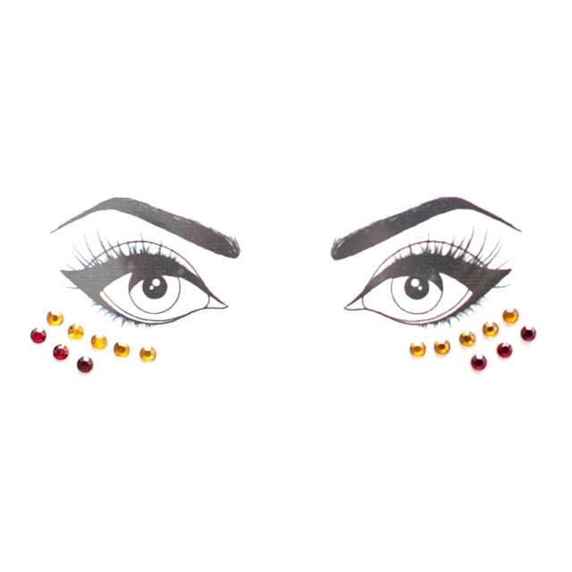 Gold & Red Face Jewels - lo + jo, LLC