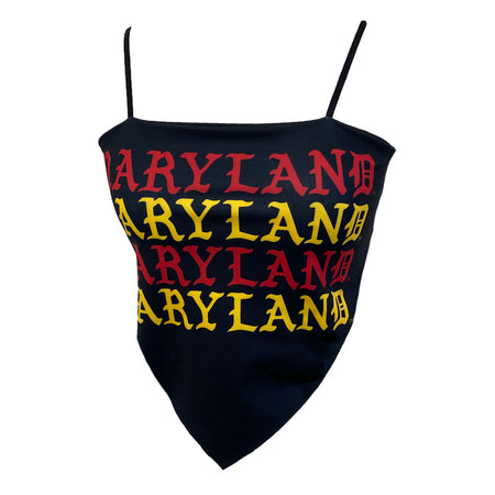 Maryland Terps Gothic Bandana Top