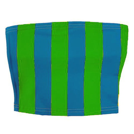 Green & Light Blue Striped Tube Top