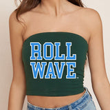 Tulane Roll Wave Green Tube Top