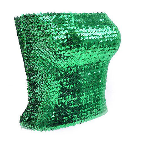 Green Sequin Tube Top