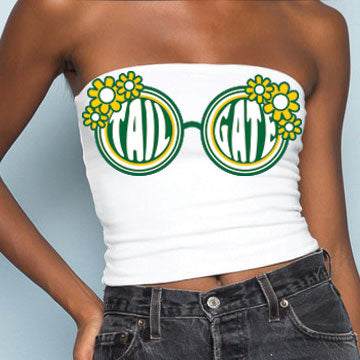 19646ae8f23 Green   Yellow Sunglasses Tube Top.   32.00. Retro State Blue ...