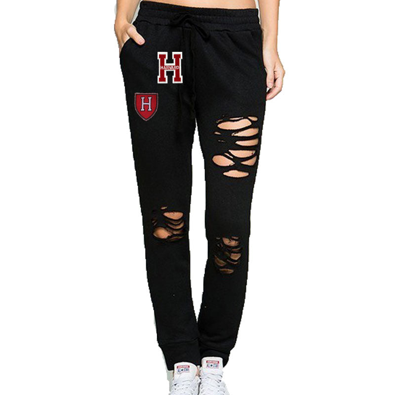 Distressed College Joggers - lo + jo, LLC