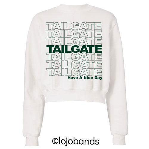 Green Have A Nice Tailgate Sweatshirt - lo + jo, LLC