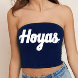 Georgetown Hoyas Navy Tube Top - lo + jo, LLC