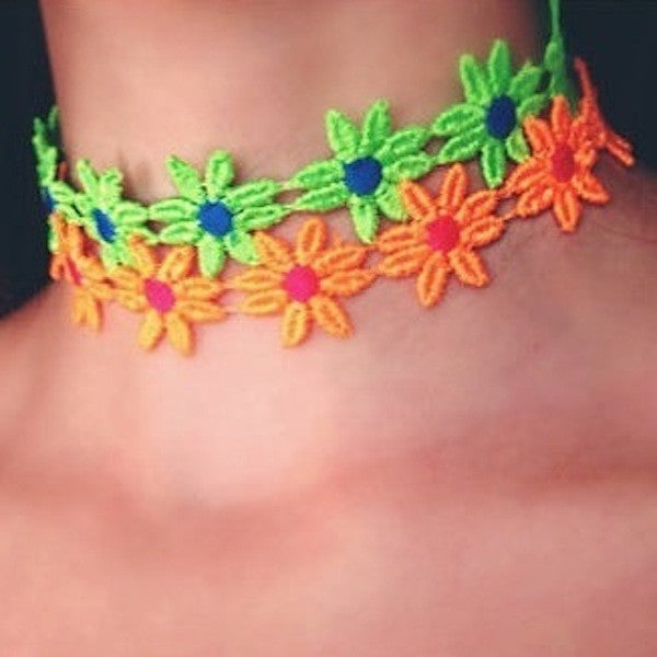 Daisy Choker Necklace - lo + jo, LLC