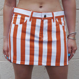 Burnt Orange & White Game Day Skirt - lo + jo, LLC