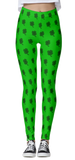 Shamrock Patterned Light Green Leggings
