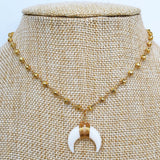 Bone Horn Necklace - lo + jo, LLC