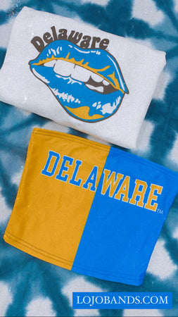 Delaware Lips Cropped Crewneck