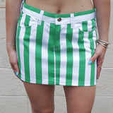 Green & White Game Day Skirt