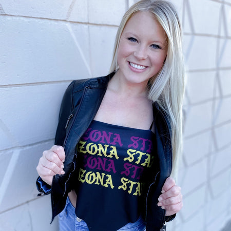Arizona State ASU Gothic Bandana Top