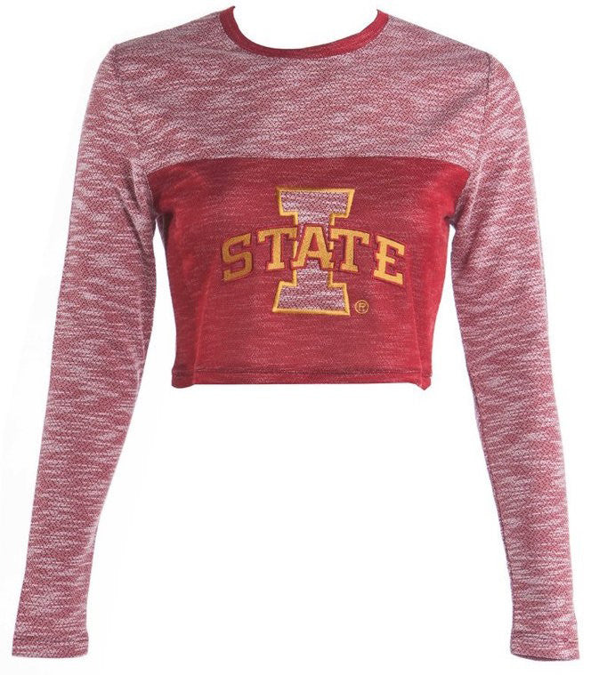 Iowa State Terry Crop Top