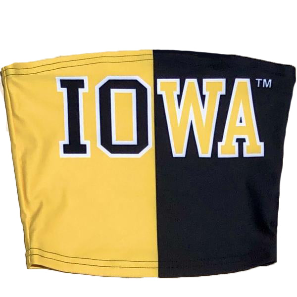 Iowa Hawkeyes Two Tone Tube Top