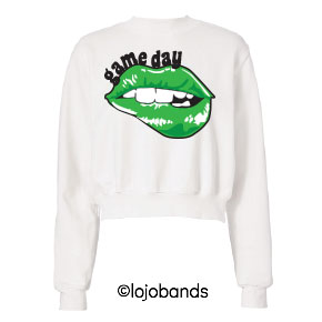 Game Day Lips Cropped Sweatshirt - lo + jo, LLC