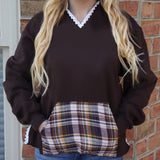 College Flannel Pocket Hoodie - lo + jo, LLC