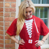 College Lace Up Tee Hockey Style - lo + jo, LLC