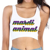 Mardi Animal Crop Top