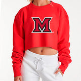Miami University Red Cropped Crewneck