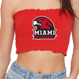 Miami University Red Smocked Tube Top