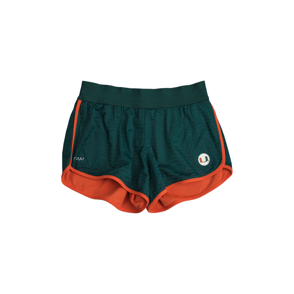 University of Miami Mesh Running Shorts