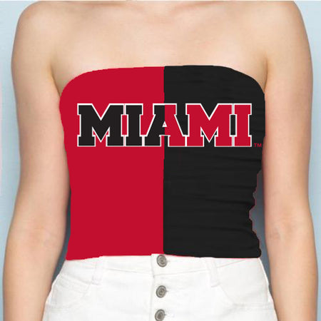 Miami University Two Tone Tube Top