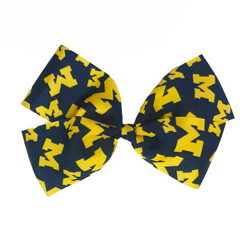 University of Michigan Tailgate Hair Bow