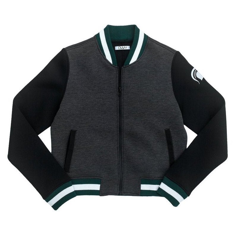 Michigan State Cropped Varsity Jacket