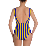 Blue & Yellow Striped One-Piece - lo + jo, LLC