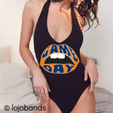 Game Day Lips Black Bodysuit - lo + jo, LLC