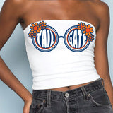 Navy & Orange Sunglasses Tube Top
