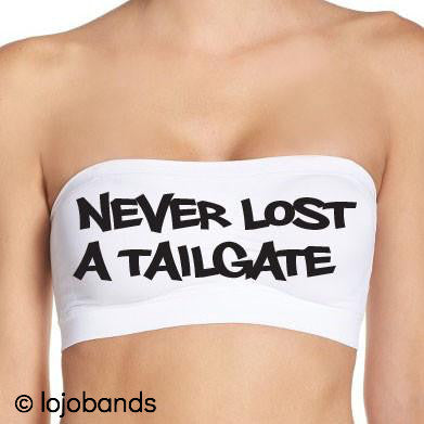 Never Lost a Tailgate White Bandeau