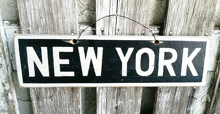 New York Wooden Sign