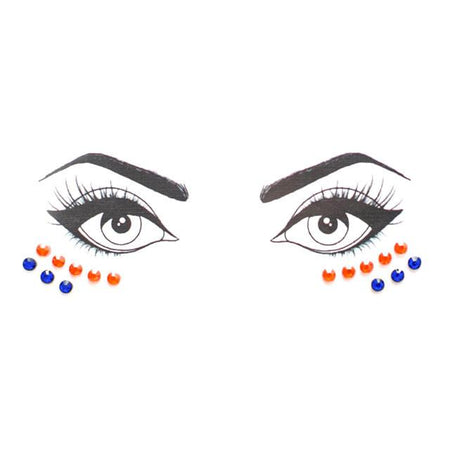 Blue & Orange Face Jewels - lo + jo, LLC