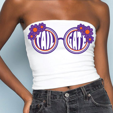 Purple & Orange Sunglasses Tube Top