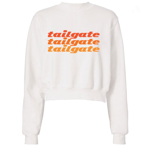 Orange Tailgate Text Sweatshirt
