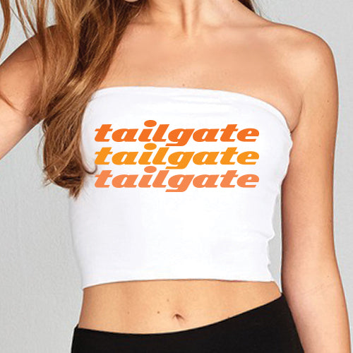 Orange Tailgate Tube Top